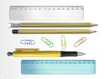 College or school stationery vector illustration royalty free illustration