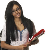 College school student smiling happily Royalty Free Stock Images