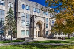 College Science Building and Jordan Hall Royalty Free Stock Images