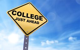 Free College Sign Royalty Free Stock Photography - 113730597