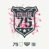 College sport emblem and design elements Stock Images