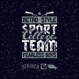 College sport team emblem Stock Photos
