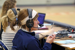 College Sports Announcer Stock Photography