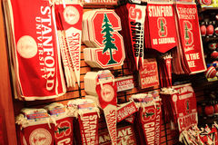 College Store. College Souvenir Gift Store or bookstore at Stanford, California USA Royalty Free Stock Images