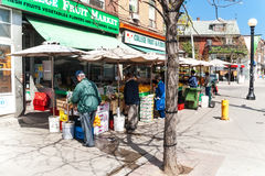 College Street, Little Italy in Toronto, Canada Stock Photo