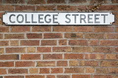 College Street Sign Royalty Free Stock Photo