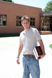 College Student. Male college student on campus Stock Images