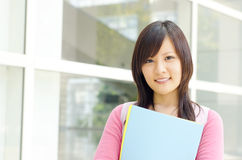College Student. Standing outside college building Stock Photos