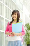 College Student. Standing outside college building Royalty Free Stock Images