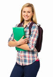 College Student Against White Background Stock Photo