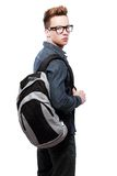 College student with back pack Royalty Free Stock Photos