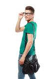 College student with back pack Royalty Free Stock Images