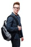 College student with back pack Stock Images