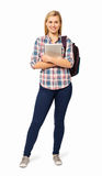College Student With Backpack And Digital Tablet Royalty Free Stock Images