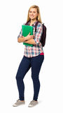 College Student With Backpack And File Royalty Free Stock Images