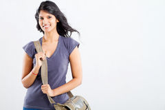 College student with bag royalty free stock photography
