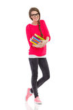 College student with books Stock Photo
