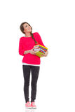 College student with books Royalty Free Stock Photos