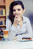 College student on a cafe. Stock Image