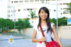 College student at campus Royalty Free Stock Photos