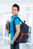 College student in campus Royalty Free Stock Images