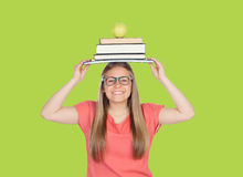 College student charged with books Stock Photos