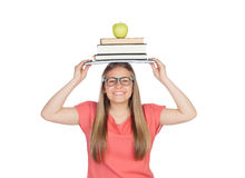 College student charged with books Royalty Free Stock Images