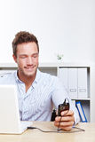 College student charging cell phone royalty free stock image