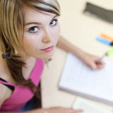College student in a classroom Stock Images