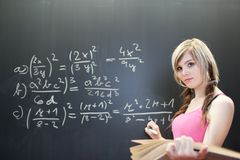 College student in a classroom Royalty Free Stock Photo