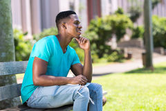 College student daydreaming Stock Photo