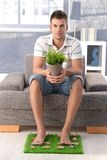 College student desiring for nature Royalty Free Stock Photo