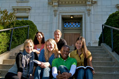 College student diversity on university campus Stock Image