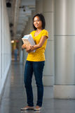 College Student Full Length Portrait Books Royalty Free Stock Photography