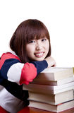 College student girl Stock Photos