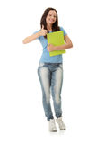 College Student girl Royalty Free Stock Photography