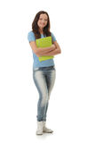 College Student girl Royalty Free Stock Images