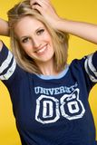 College Student Girl Stock Image