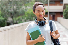 College student headphones Royalty Free Stock Photography