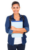 College student holding books Stock Photo