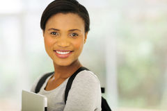 College student holding laptop Royalty Free Stock Photography