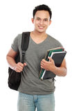 College student isolated on white background Stock Photo