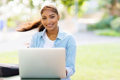 College student laptop Royalty Free Stock Photos
