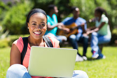 College student laptop Royalty Free Stock Image