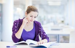 College student in a library Royalty Free Stock Photography