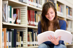 College student at the library Royalty Free Stock Photo