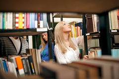 College student in library Royalty Free Stock Photos