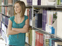College Student In Library Stock Image