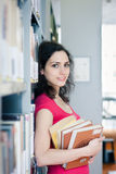 College student in the library Stock Photos