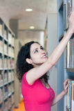 College student in the library Stock Images